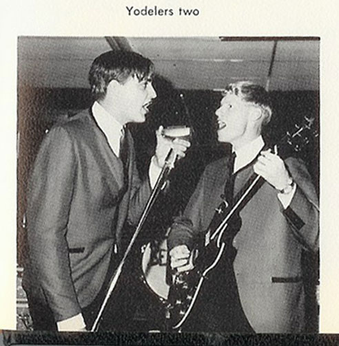 "1964 photo of Grainger Hunt the lead singer and Peyton Starr the lead guitarist in the Alpine, Texas band called the ""Believers"" in Phantom Productions' vintage recording collection"