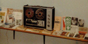 picture of Sony 260 with recording literature in HSC's first studio