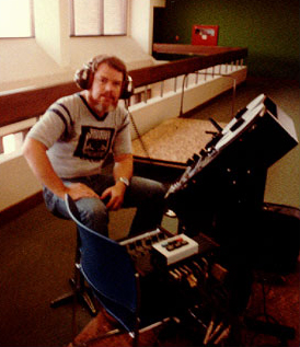 picture of Martin recording HWC on location at the University of Texas