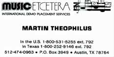 Martin's Music, Etc. card