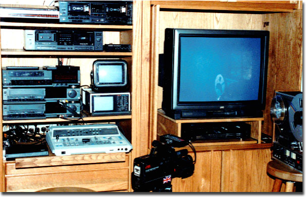 picture of Phantom's video editing set-up early '90s