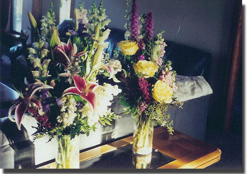 pictures of flowers from hospital after Chris' appendectomy