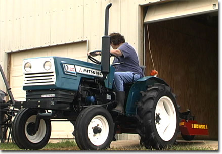 picture of Chris' new tractor