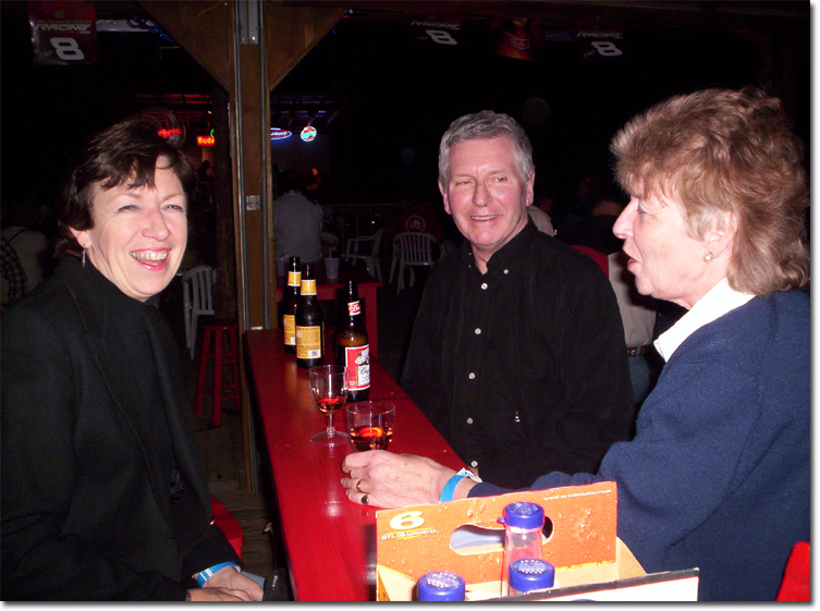 picture of Chris, Shiela and Michael at Hog Wild