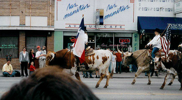 picture of 2005 Texas Independence Day Parade during Sheila and Michael's visit to Texas