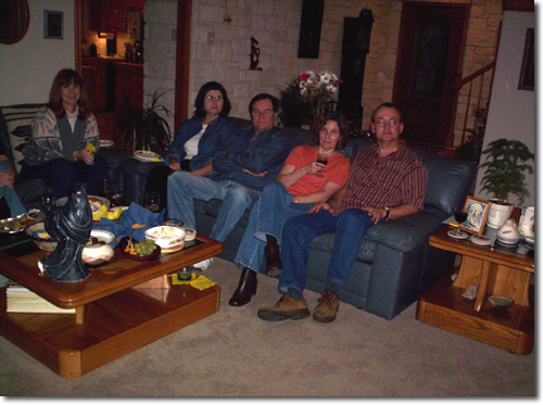 picture from Chris & Martin's 11th annual Superbowl party