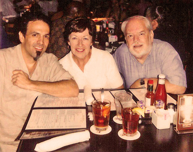 piccture of Ken, Chris & Martin at pappadeaux on Mother's Day 2006