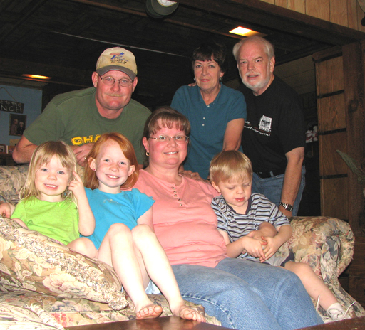 Chris & Martin with Karen & Tim, Timothy, Becky &