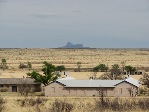 Cathedral Mountain from Marfa, Texas