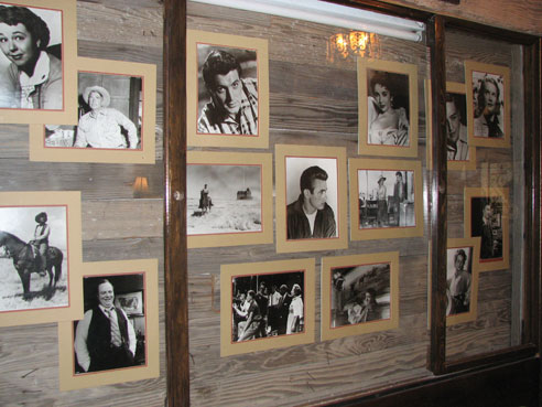 pictures of Giant movie stars in display at the Paisano Hotel