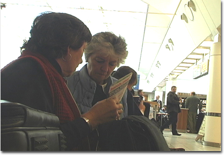 Sheila and Chris at Gatwick, London