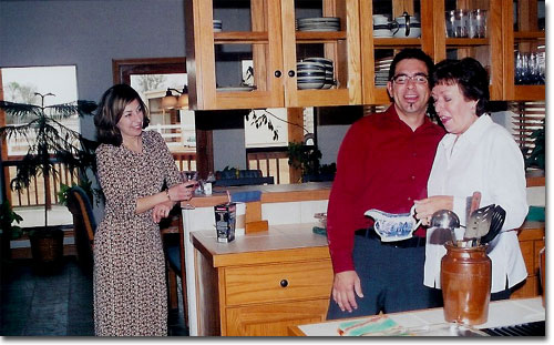 picture of Chris, Sharon & Anthony Christmas 2003