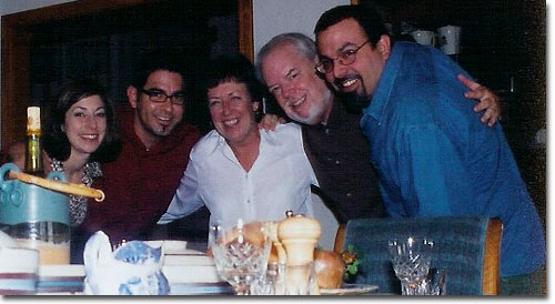 picture of Sharon, Anthony, Ken, Chris & Martin  Christmas 2003