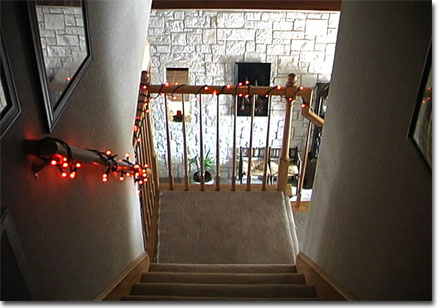 picture of decorated stairs