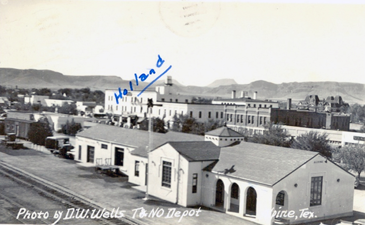 Alpine, Texas train station which was built after the previous one burned in 1946