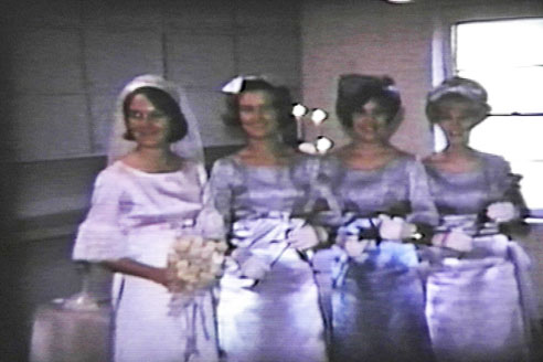 Carol's maids of honor at wedding