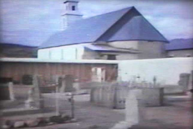 Shafter, Texas church during filming of the Andromeda Strain opening sequence.