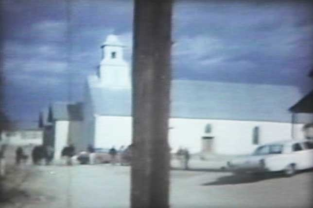 Martin's picture of the church that was fixed up for the shooting of the Andromeda Strain in Shafter, Texas