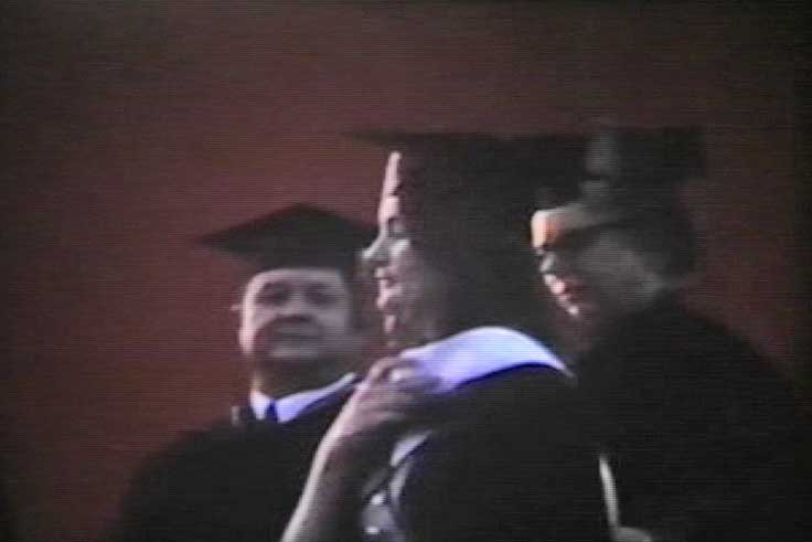 Carol receiving her Masters Degree from Sul Ross UNiversity