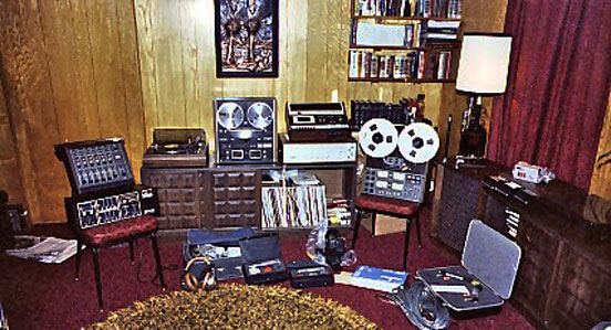 Phantom's on-location recording gear in Odessa, Texas in the late 1970's