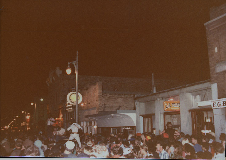 Austin's 6th Street on Halloween 1984