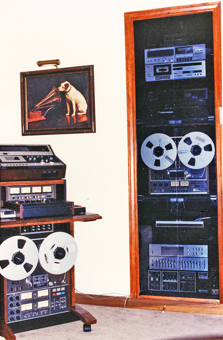 Phantom Productions' audio closet mid 1980's