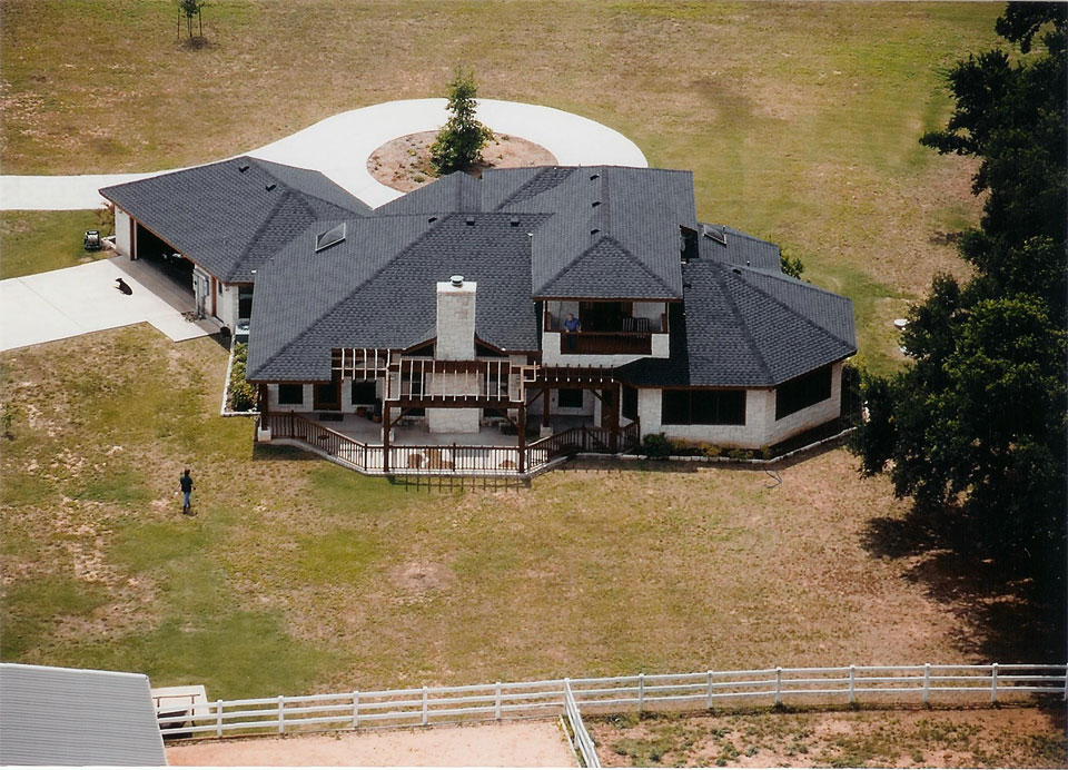 picture of house from the air