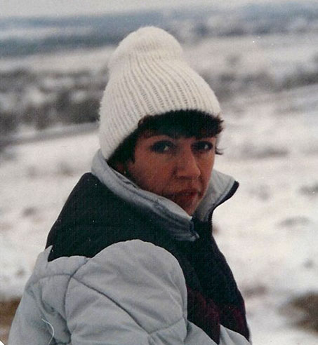 Chris in Lockhart during early 1985 snow