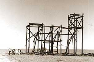Frame of old Reata house used in the movie Giant West of Marfa, Texas
