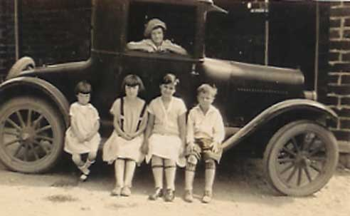 Martin's Mom in the car in 1920