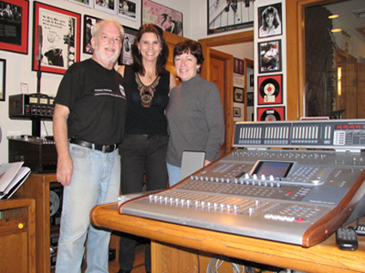 Tracie Lynn visiting the Phantom Productions recording studio
