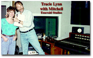 picture of Tracie Lynn with Mitchel inthe Emerald Studio