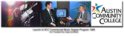 Martin's Austin Community College interview about initiating the ACC Commercial Degree program