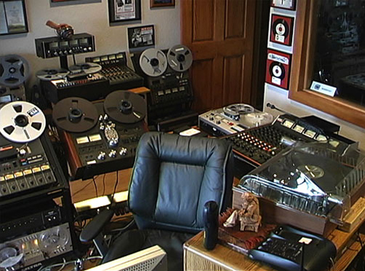 Phantom Studio using the Tascam Model 5 mixer